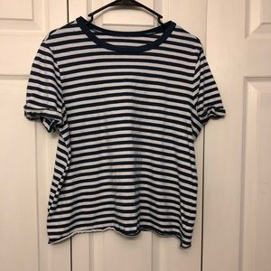 Wild Fable blue and white striped shirt